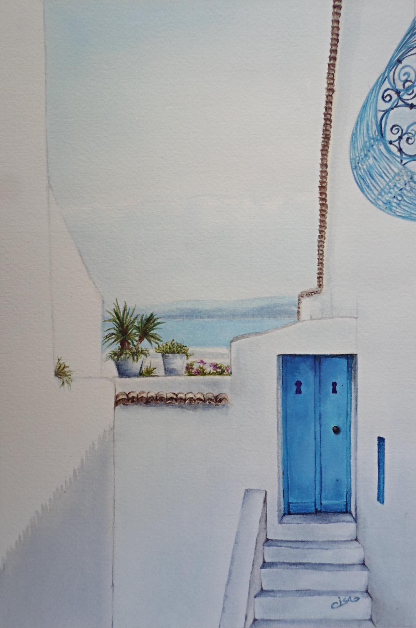 Isabelle Blanchon - Sidi-Bou-Saïd,vue sur mer - Tunisie.